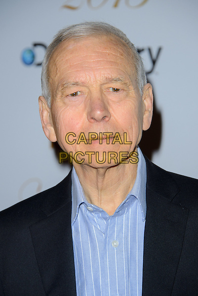 John Humphrys.Arrivals  at the Broadcasting Press Guild TV and Radio Awards at One Whitehall, London, England..March 14th, 2013.headshot portrait blue shirt black suit  .CAP/CJ.©Chris Joseph/Capital Pictures.