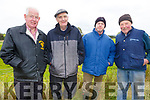Joe McCarthy (Listowel), Michael Quilter (Lixnaw), Con Heaphy (Lixnaw) and Paddy Flaherty (Lixnaw) at the Kilflynn coursing meeting on Sunday.