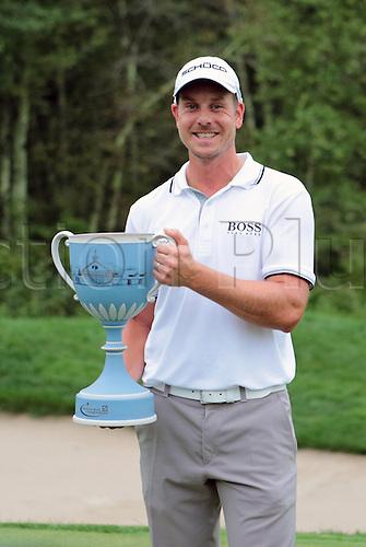 02.09.2013. Boston, Mass, USA.  Henrik Stenson wins the Deutsche Bank Championship at TPC Boston, Norton, MA on September 2, 2013.