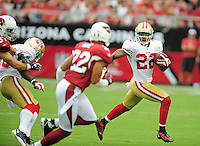 Sept. 13, 2009; Glendale, AZ, USA; San Francisco 49ers cornerback (22) Nate Clements against the Arizona Cardinals at University of Phoenix Stadium. San Francisco defeated Arizona 20-16. Mandatory Credit: Mark J. Rebilas-
