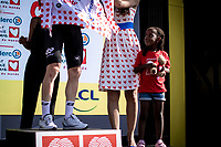 Polka dots jersey podium:<br /> looking up to Tim Wellens (BEL/Lotto Soudal) in awe<br /> <br /> Stage 16: Nimes to Nimes (177km)<br /> 106th Tour de France 2019 (2.UWT)<br /> <br /> ©kramon