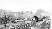 D&amp;RGW #487 running light approaching north Durango yards.  Animas River bridges in background.<br /> D&amp;RGW  Durango, CO