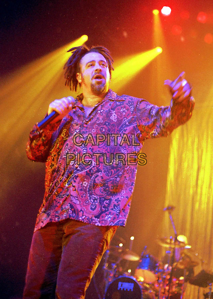 COUNTING CROWS.At Wembley Arena.stage, concert, music, dreadlocks, patterned shirt, half length, half-length, singing.www.capitalpictures.com.sales@capitalpictures.com.©Capital Pictures