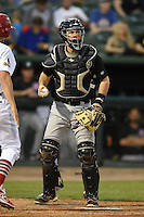 Kane County Cougars catcher Will Remillard (20) during a game against the Peoria Chiefs on June 2, 2014 at Dozer Park in Peoria, Illinois.  Peoria defeated Kane County 5-3.  (Mike Janes/Four Seam Images)