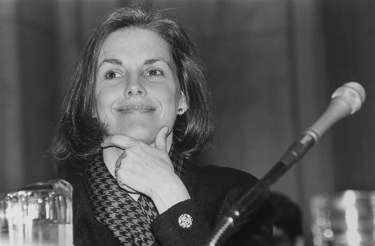 Senate Sergeant-at-Arms Martha Pope attends Senate Rules Committee hearing on technology on March 7, 1994. (Photo by Laura Patterson/CQ Roll Call via Getty Images)