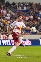 Kenny Cooper (33) of the New York Red Bulls. The New York Red Bulls defeated Toronto FC 4-1 during a Major League Soccer (MLS) match at Red Bull Arena in Harrison, NJ, on September 29, 2012.