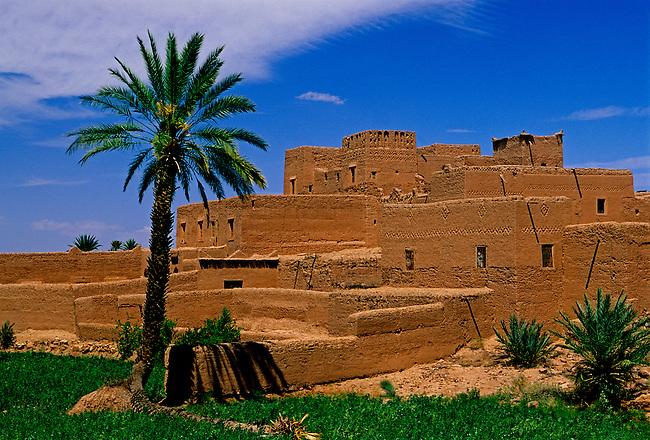 Ksar in Skoura, Dades Valley, Morocco, Africa