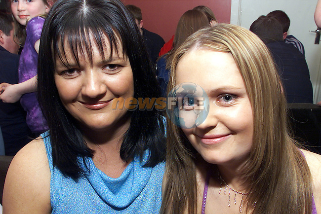 Martina Henry and Barbra Smith, Annagassan pictured at the charity head shaving at the Tavern bar in Togher..Picture: Arthur Carron/Newsfile