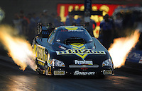 Oct. 31, 2008; Las Vegas, NV, USA: NHRA funny car driver Tony Pedregon during qualifying for the Las Vegas Nationals at The Strip in Las Vegas. Mandatory Credit: Mark J. Rebilas-