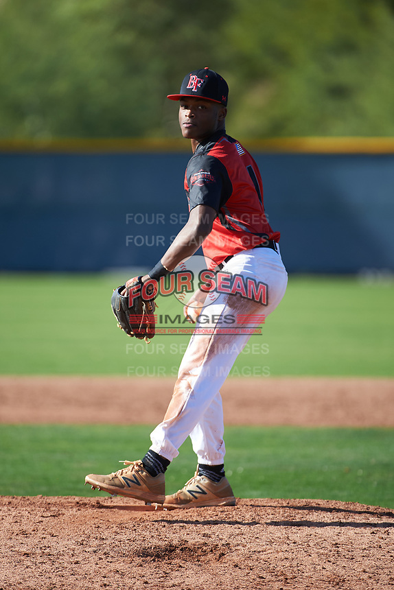 Al Dumas (1) of Eupora High School in Eupora, Mississippi during the Baseball Factory All-America Pre-Season Tournament, powered by Under Armour, on January 14, 2018 at Sloan Park Complex in Mesa, Arizona.  (Art Foxall/Four Seam Images)