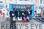 The staff of IT Tralee with their stand handing out the IT Tralee 2019 Prospectus in the square in Tralee on Saturday.<br /> L to r: Michael Hall, Bridget Crowley, Carol Fitzgerald, Mary Rose Stafford, Helen Fitzgerald, Sinead O'Hagan and Denis Sheehan.