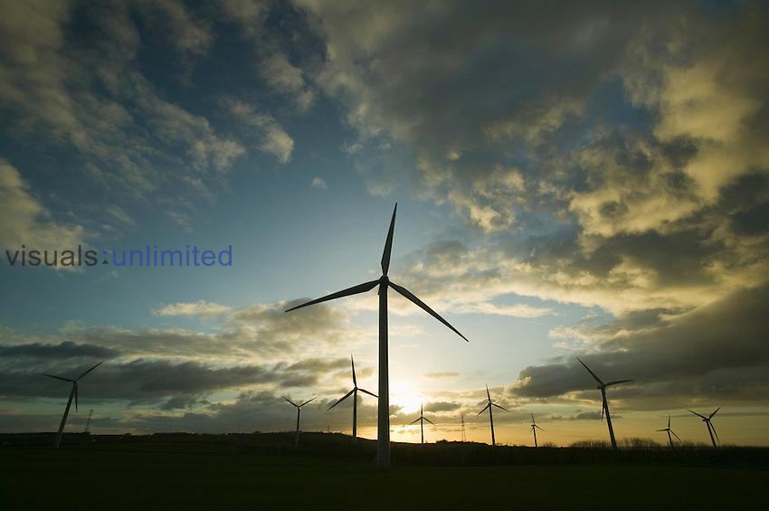 A windfarm in Workington, United Kingdom.