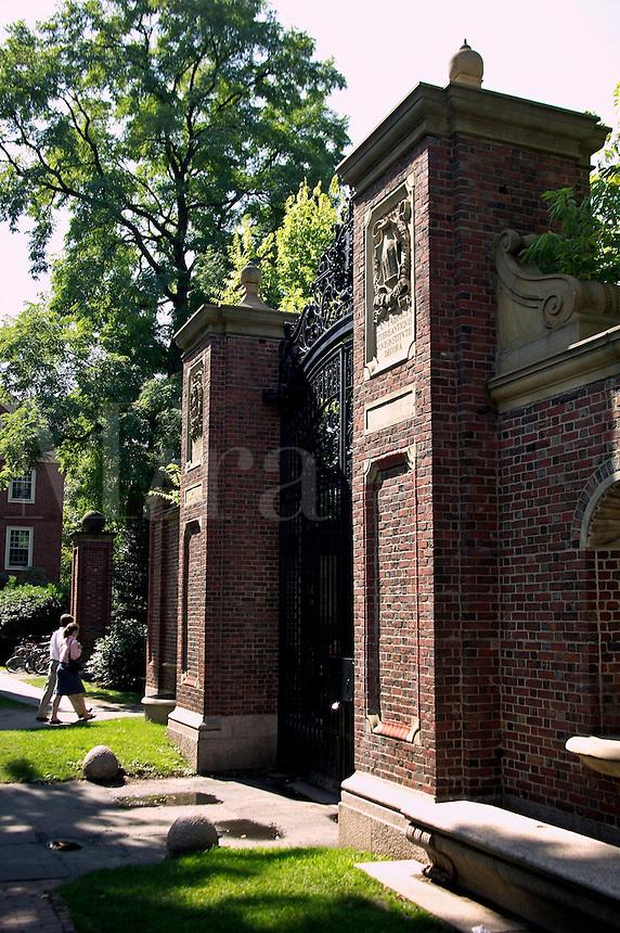 Gate of Harvard Yard, Harvard University, Cambridge, M