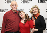 "Mark Blum, Jamie Brewer and Debra Monk attends the Meet & Greet for the cast of ""Amy and the Orphans"" at the Roundabout Theatre rehearsal hall on January 10, 2018 in New York City."