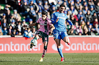 26th January 2020; Coliseum Alfonso Perez, Madrid, Spain; La Liga Football, Club Getafe Club de Futbol versus Real Betis; Marc Bartra (Betis)   controls the ball challenged by Jorge Molina Vidal of Getafe