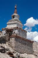 Stupa im Kloster Tikse, Ladakh (Jammu+Kashmir), Indien