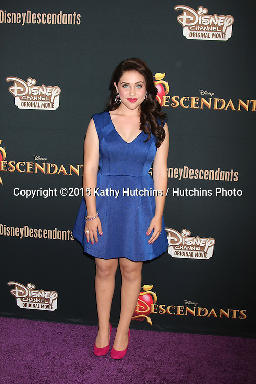 "LOS ANGELES - JUL 24:  Brenna D'Amico at the ""Descendants"" Premiere Screening at the Walt Disney Studios on July 24, 2015 in Burbank, CA"