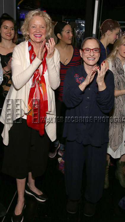 Christine Edbersole and Patti Lupone during the Actors' Equity Gypsy Robe honoring Joanna Glushak for 'War Paint' at the Nederlander Theatre on April 6, 2017 in New York City