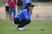 Mi Hyang Lee (KOR) on the 1st green during Round 2 of the Ricoh Women's British Open at Royal Lytham &amp; St. Annes on Friday 3rd August 2018.<br /> Picture:  Thos Caffrey / Golffile<br /> <br /> All photo usage must carry mandatory copyright credit (&copy; Golffile | Thos Caffrey)