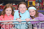 AMUSEMENTS: The Lenihan girls from Tralee, Lauren, Isabel and Hannah enjoying the amusements at the Ardfert Summer Festival on Sunday.            .