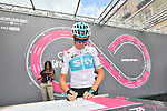 Chris Froome (GBR) Team Sky signs on before the start of Stage 6 of the 2018 Giro d'Italia, running 169km from Caltanissetta to the Etna (Osservatorio Astrofisico) marks the first mountain finish of the race finishing on the Osservatorio Astrofisico climb for the first time in race's history, Sicily, Italy. 10th May 2018.<br /> Picture: LaPresse/Massimo Paolone | Cyclefile<br /> <br /> <br /> All photos usage must carry mandatory copyright credit (&copy; Cyclefile | LaPresse/Massimo Paolone)