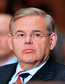 "United States Senator Robert Menendez (Democrat of New Jersey) listens to the opening remarks during the U.S. Senate Committee on Environment and Public Works hearing entitled ""Economic and Environmental Impacts of the Recent Oil Spill in the Gulf of Mexico""  in Washington, D.C. on Tuesday, May 11, 2010..Credit: Ron Sachs / CNP"