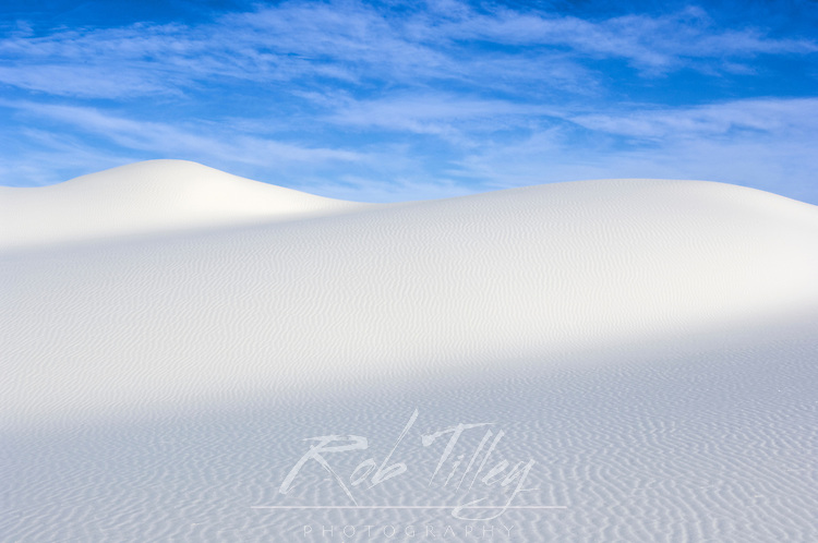 USA, NM, White Sands, Sand Dune