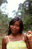 Mato Grosso, Brazil. Young Rikbaktsa (Canoeiro) Indian woman.