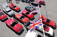 Nederland - Zandvoort - 8 juli 2018.  Het British Festival. Dit jaar staat het British Festival in het teken van de Grand Prix. Races op het Circuit van Zandvoort. MG auto's op de Paddock.     Foto Berlinda van Dam Hollandse Hoogte