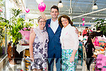 Attending the paint it pink coffee morning and Fashion Show at Ballyseedy Garden Centre  for the Irish Cancer Society on Friday were l-r Mary O'Sullivan, Nathan McDonnell and Berni Falvey