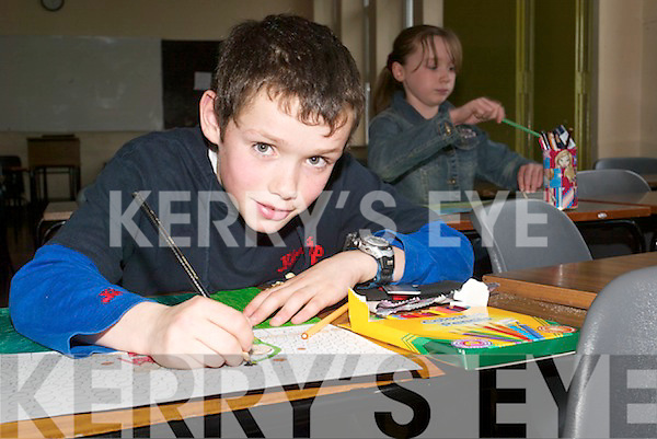 Competing: At the Community Games Art competition on Saturday morning at Listowel.Convent