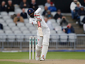 7th September 2017, Emirates Old Trafford, Manchester, England; Specsavers County Championship, Division One; Lancashire versus Essex; Essex captain Varun Chopra hits a straight drive