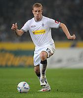 FUSSBALL   1. BUNDESLIGA   SAISON 2011/2012   23. SPIELTAG Borussia Moenchengladbach - Hamburger SV         24.02.2012 Mike Hanke (Borussia Moenchengladbach) Einzelaktion am Ball