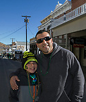 Daniel and Daniel Jr. Beltran during the 28th annual Rocky Mountain Oyster Fry and St. Patrick's Day Parade in Virginia City, Nevada on Saturday March 16, 2019.