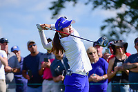 Hye-Jin Choi (a)(KOR) watches her tee shot on 10 during Sunday's final round of the 72nd U.S. Women's Open Championship, at Trump National Golf Club, Bedminster, New Jersey. 7/16/2017.<br /> Picture: Golffile | Ken Murray<br /> <br /> <br /> All photo usage must carry mandatory copyright credit (&copy; Golffile | Ken Murray)