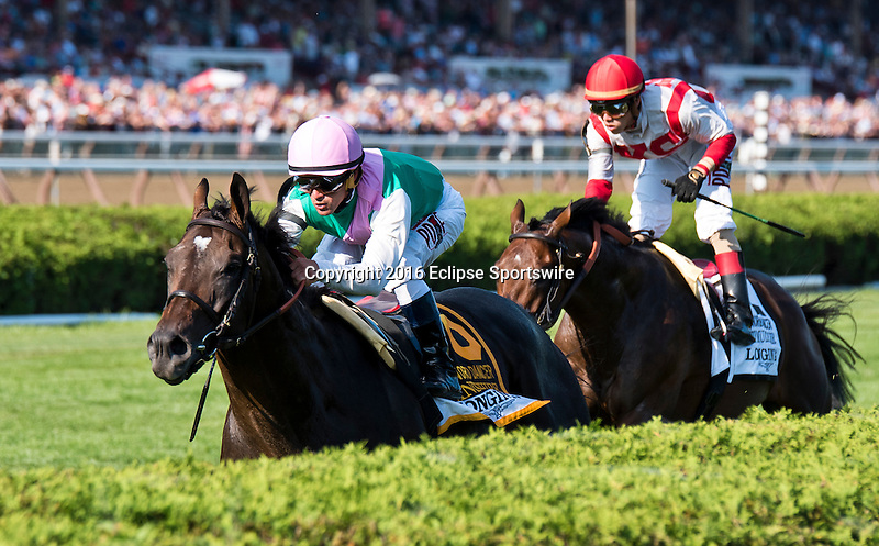 SARATOGA SPRINGS, NY - AUGUST 27: Flintshire #6, ridden Javier Castellano, wins the Sword Dancer Stakes on Travers Stakes Day at Saratoga Race Course on August 27, 2016 in Saratoga Springs, New York. (Photo by Dan Heary/Eclipse Sportswire/Getty Images)