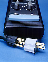 THREE PRONG PLUG &amp; ADAPTER<br /> The three prong plug from the timer includes a ground wire. The adapter allows the use of the grounded plug in a 2-prong non-grounded outlet.
