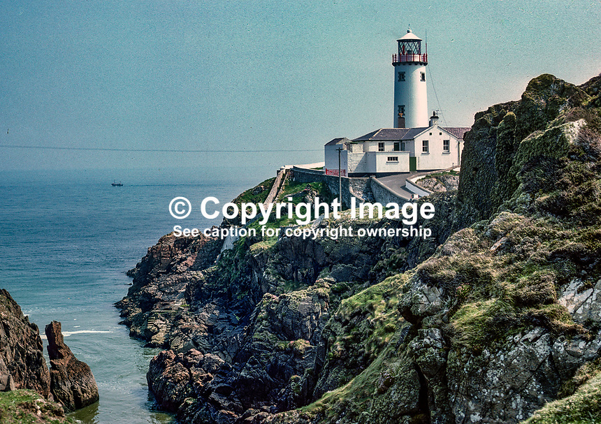 Fanad Lighthouse, Co Donegal, Rep of Ireland,  July, 1978, 197807000198<br /><br />Copyright Image from Victor Patterson, 54 Dorchester Park, <br />Belfast, UK, BT9 6RJ<br /><br />t1: +44 28 9066 1296 (from Rep of Ireland 048 9066 1296)<br />t2: +44 28 9002 2446 (from Rep of Ireland 048 9002 2446)<br />m: +44 7802 353836<br /><br />victorpatterson@me.com<br />www.victorpatterson.com<br /><br />Please see my Terms and Conditions of Use at VICTORPATTERSON.COM. It is IMPORTANT that you familiarise yourself with them.<br /><br />Images used on the Internet must be visibly watermarked i.e. &copy;VICTORPATTERSON.COM within the body of the image and copyright metadata must not be deleted. Images used on the Internet have a size restriction of 4kbs and are chargeable at the then current NUJ rates.<br /><br />This image is only available for the use of the download recipient i.e. television station, newspaper, magazine, book publisher, etc, and must not be passed on to any third party. It is also downloaded on condition that each and every usage is notified within 7 days to victorpatterson@me.com<br /><br />The right of Victor Patterson to be identified as the author is asserted in accordance with The Copyright Designs And Patents Act (1988).