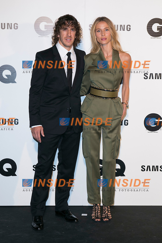 "Carles Puyol and Vanessa Lorenzo andattends the ""GQ AWARDS"" at Palace Hotel in Madrid, Spain. November 3, 2014. (ALTERPHOTOS/Carlos Dafonte/Insidefoto)"