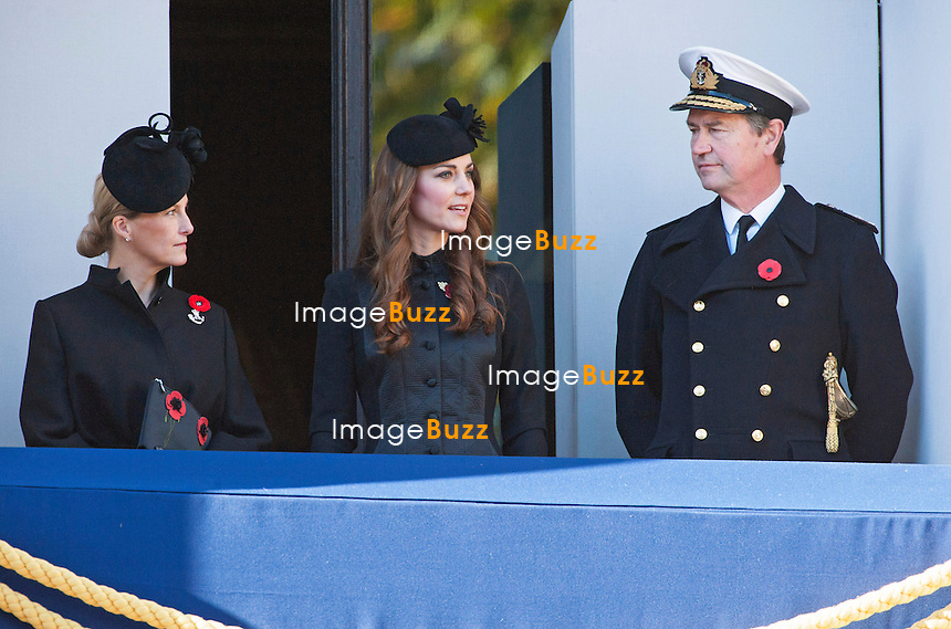 KATE JOINS ROYALS <br /> for the Remembrance Sunday Service at the Cenotaph, London<br /> Other Royals present were The Queen, Duke of Edinburgh, Prince William, Prince Harry, Sophie Wessex, Princess Anne, Tim Laurence and the Duke of Kent_10/11/2013