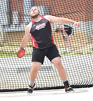 RICK PECK/SPECIAL TO MCDONALD COUNTY PRESS Elliott Wolfe went from seventh to second with a final throw of 150-9 at sectionals to qualify for this week's state track meet.