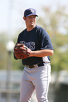 March 19th 2008:  Greg Dupas of the Tampa Bay Devil Rays minor league system during Spring Training at the Raymond A. Naimoli Complex in St. Petersburg, FL.  Photo by:  Mike Janes/Four Seam Images