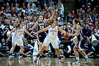 SPOKANE, WA - MARCH 28, 2011: Grace Mashore, Stanford Women's Basketball vs Gonzaga, NCAA West Regional Finals at the Spokane Arena on March 28, 2011.