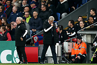 3rd November 2019; Selhurst Park, London, England; English Premier League Football, Crystal Palace versus Leicester City; A dejected Crystal Palace Manger Roy Hodgson - Strictly Editorial Use Only. No use with unauthorized audio, video, data, fixture lists, club/league logos or 'live' services. Online in-match use limited to 120 images, no video emulation. No use in betting, games or single club/league/player publications