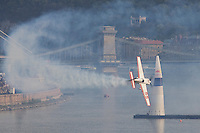 0708193994a Red Bull Air Race international air show qualifying runs over the river Danube, Budapest preceding the anniversary of Hungarian state foundation. Hungary. Sunday, 19. August 2007. ATTILA VOLGYI