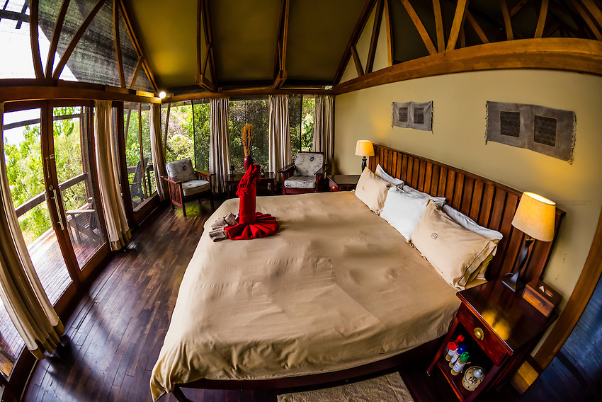 Luxury safari tent, Lebala Camp, Kwando Concession, Linyanti Marshes, Botswana.