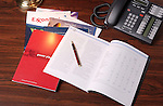 Annual reports on desk