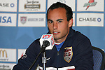 6 February 2007: US midfielder Landon Donovan. The United States National Team held a press conference and practice at University of Phoenix Stadium in Glendale, Arizona prior to an International Friendly soccer match against Mexico to be held on Wednesday, February 7.