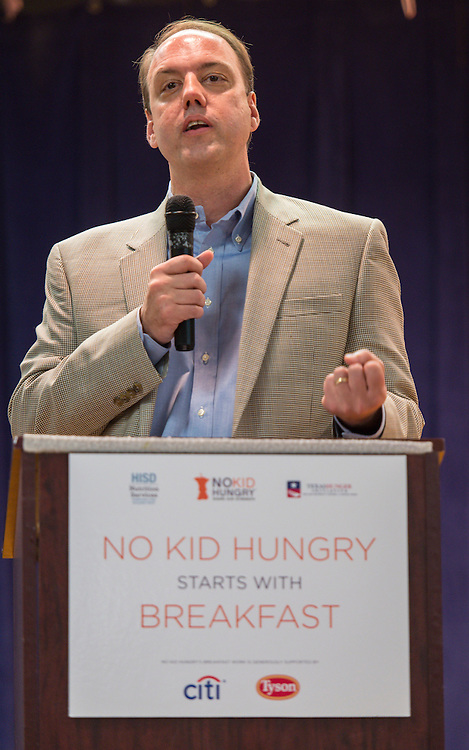 No Kid Hungry breakfast celebration at Marshall Middle School, April 8, 2015.