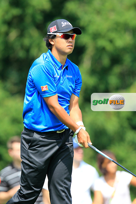 Hideki Matsuyana (JPN) tees off the 4th tee during Sunday's Final Round to win the WGC Bridgestone Invitational, held at the Firestone Country Club, Akron, Ohio.: Picture Eoin Clarke, www.golffile.ie: 3rd August 2014
